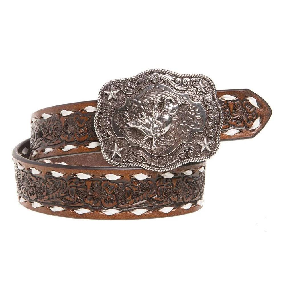 Nocona Floral Embossed Belt KIDS - Accessories - Belts Teskeys Teskeys