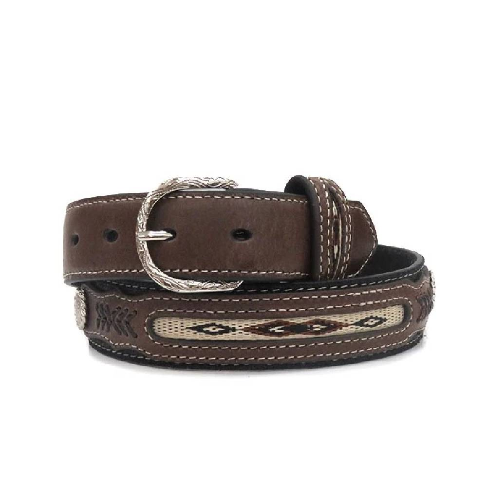 Nocona Two Tone Concho Belt KIDS - Boys - Accessories M&F WESTERN PRODUCTS Teskeys