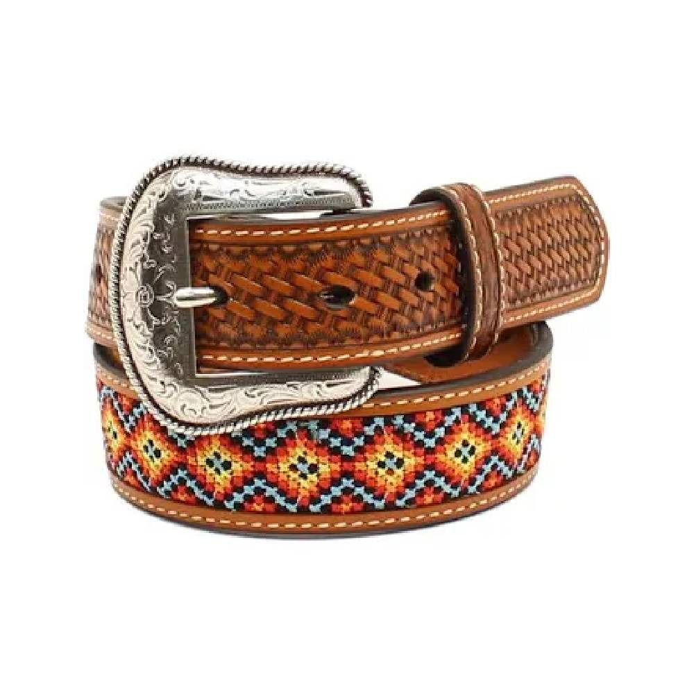 Nocona Aztec Embroidered Belt KIDS - Accessories - Belts M&F WESTERN PRODUCTS Teskeys