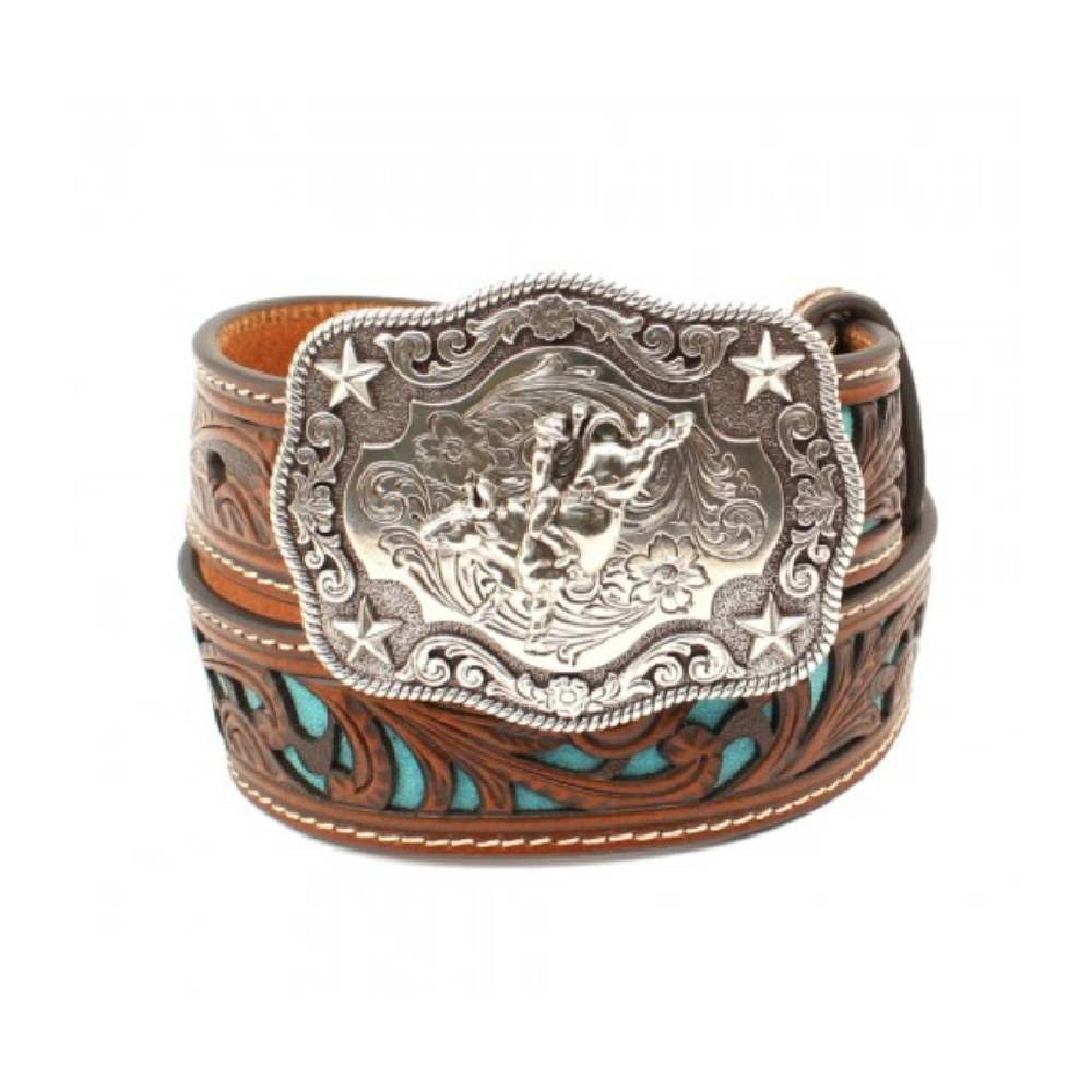 Nocona Turquoise Inlay Belt KIDS - Boys - Accessories Teskeys Teskeys