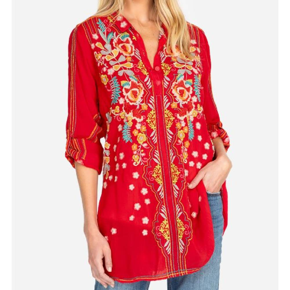 Johnny Was Lyndsey Tunic WOMEN - Clothing - Tops - Tunics JOHNNY WAS COLLECTION Teskeys