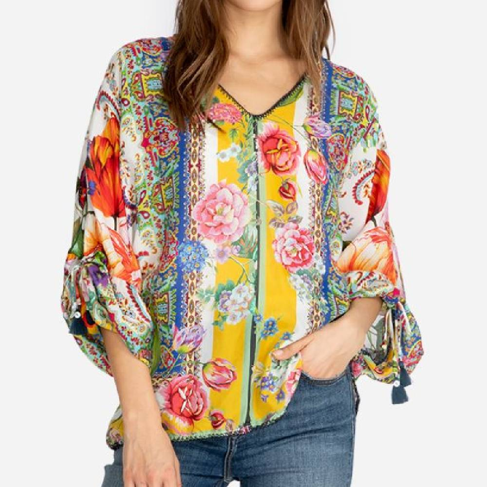 Johnny Was Sorbet Blouse WOMEN - Clothing - Tops - Long Sleeved JOHNNY WAS COLLECTION Teskeys