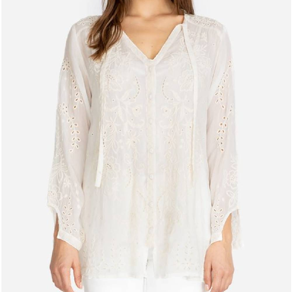 Johnny Was Monroe Blouse WOMEN - Clothing - Tops - Long Sleeved JOHNNY WAS COLLECTION Teskeys