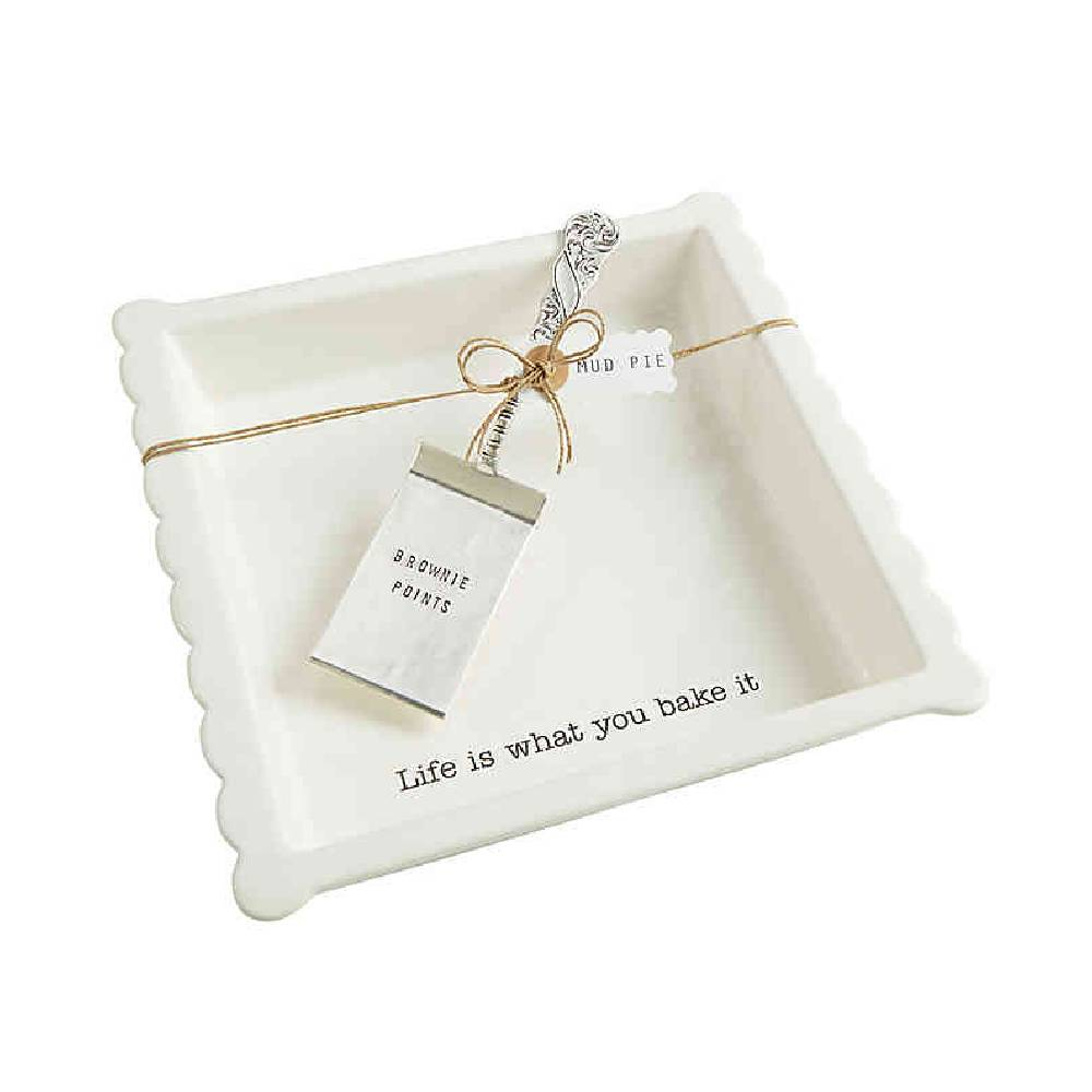 Mud Pie Brownie Baker Set HOME & GIFTS - Tabletop + Kitchen - Serveware & Utensils Mud Pie Teskeys