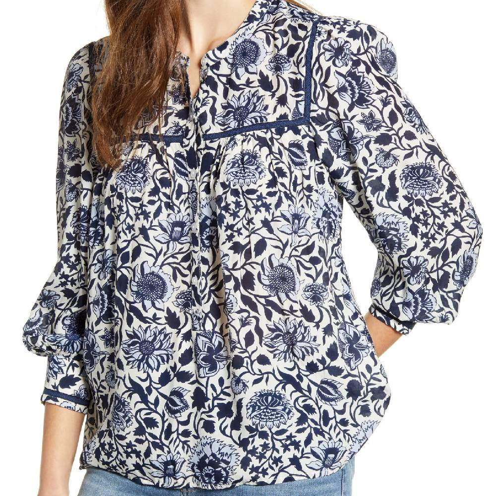 Lucky Brand Sophie Popover Top WOMEN - Clothing - Tops - Long Sleeved LUCKY BRAND JEANS Teskeys
