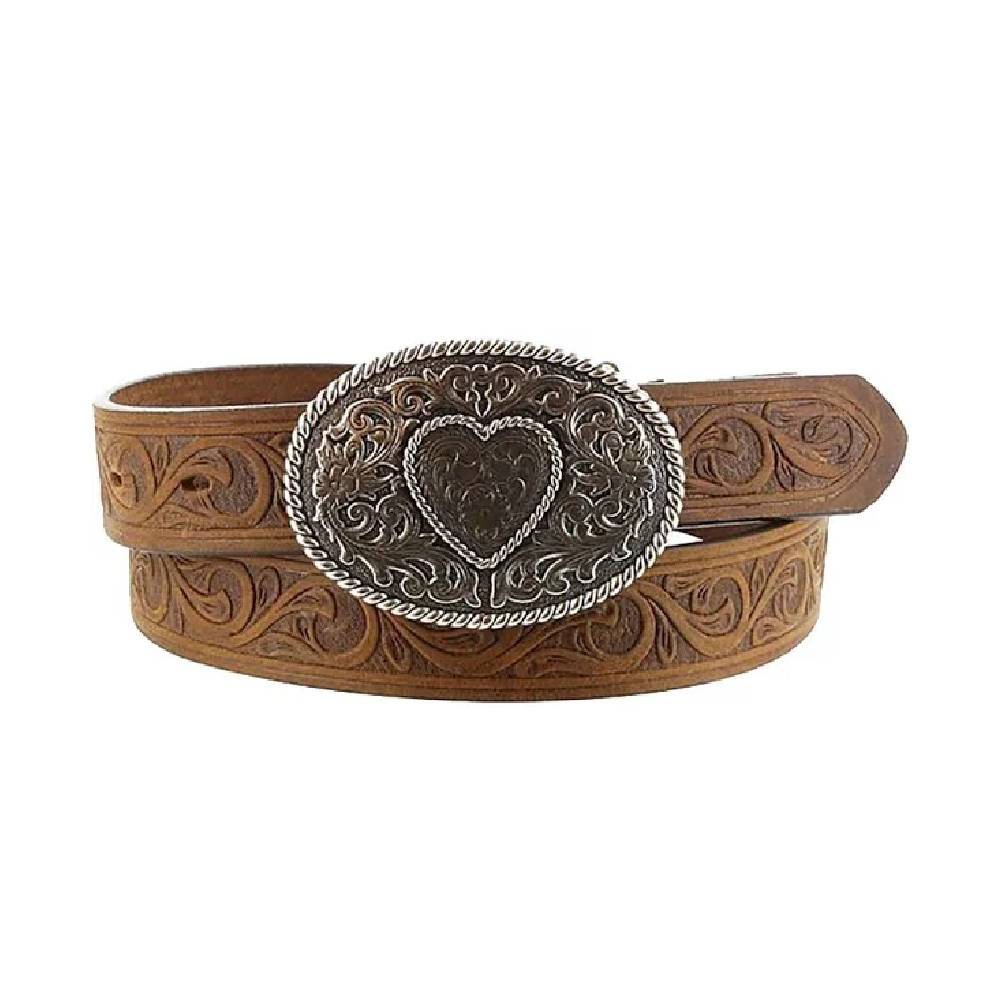 Justin Trophy Tooled Belt KIDS - Accessories - Belts LEEGIN CREATIVE LEATHER/BRIGHTON Teskeys