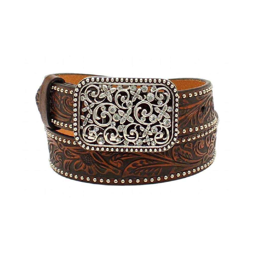 Ariat Floral Embossed Belt KIDS - Accessories - Belts M&F WESTERN PRODUCTS Teskeys