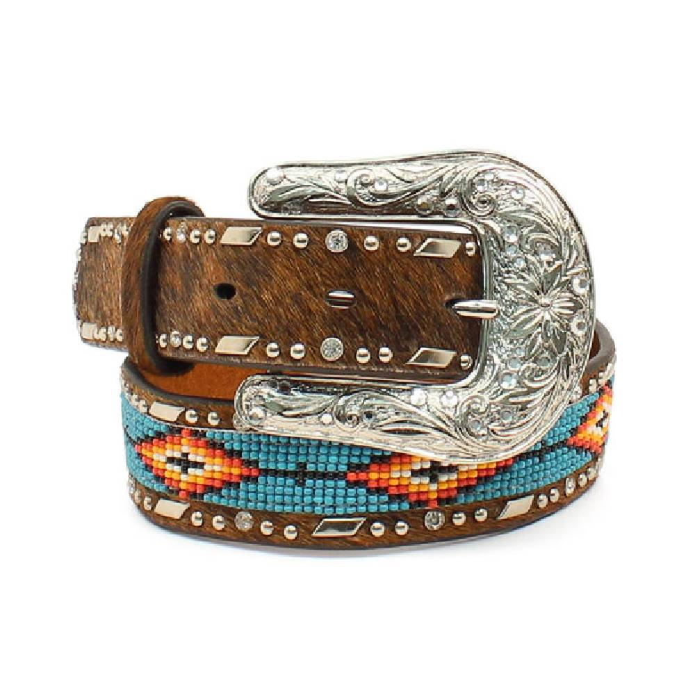 Ariat Southwest Beaded Hair-On Belt KIDS - Girls - Accessories M&F WESTERN PRODUCTS Teskeys