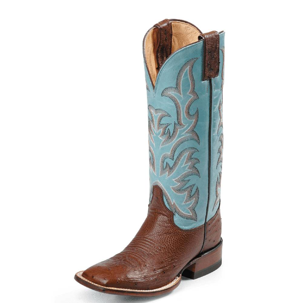 Justin Marfa Smooth Ostrich Boot WOMEN - Footwear - Boots - Exotic Boots Teskeys Teskeys