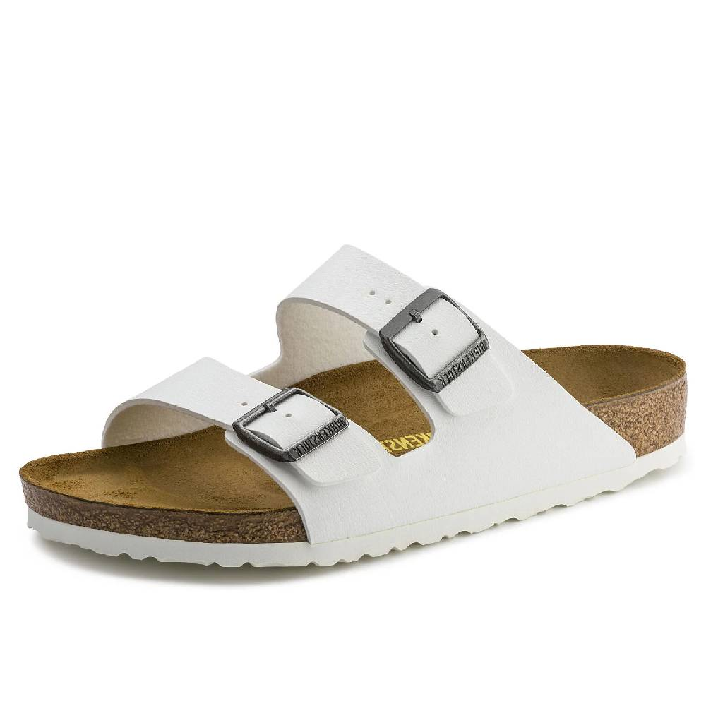 Birkenstock Arizona White WOMEN - Footwear - Sandals BIRKENSTOCK Teskeys