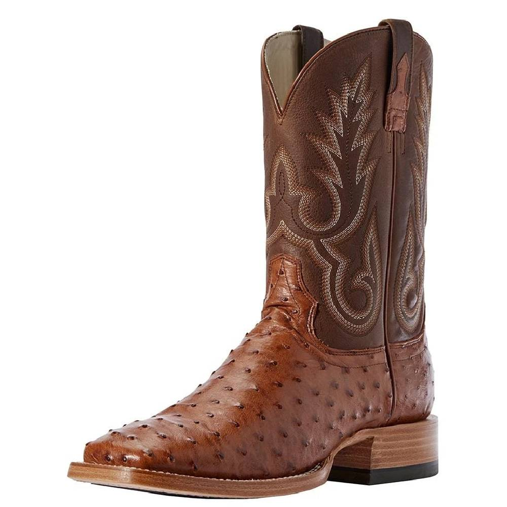 Ariat Barker Full Quill Ostrich Boot MEN - Footwear - Western Boots Ariat Footwear Teskeys