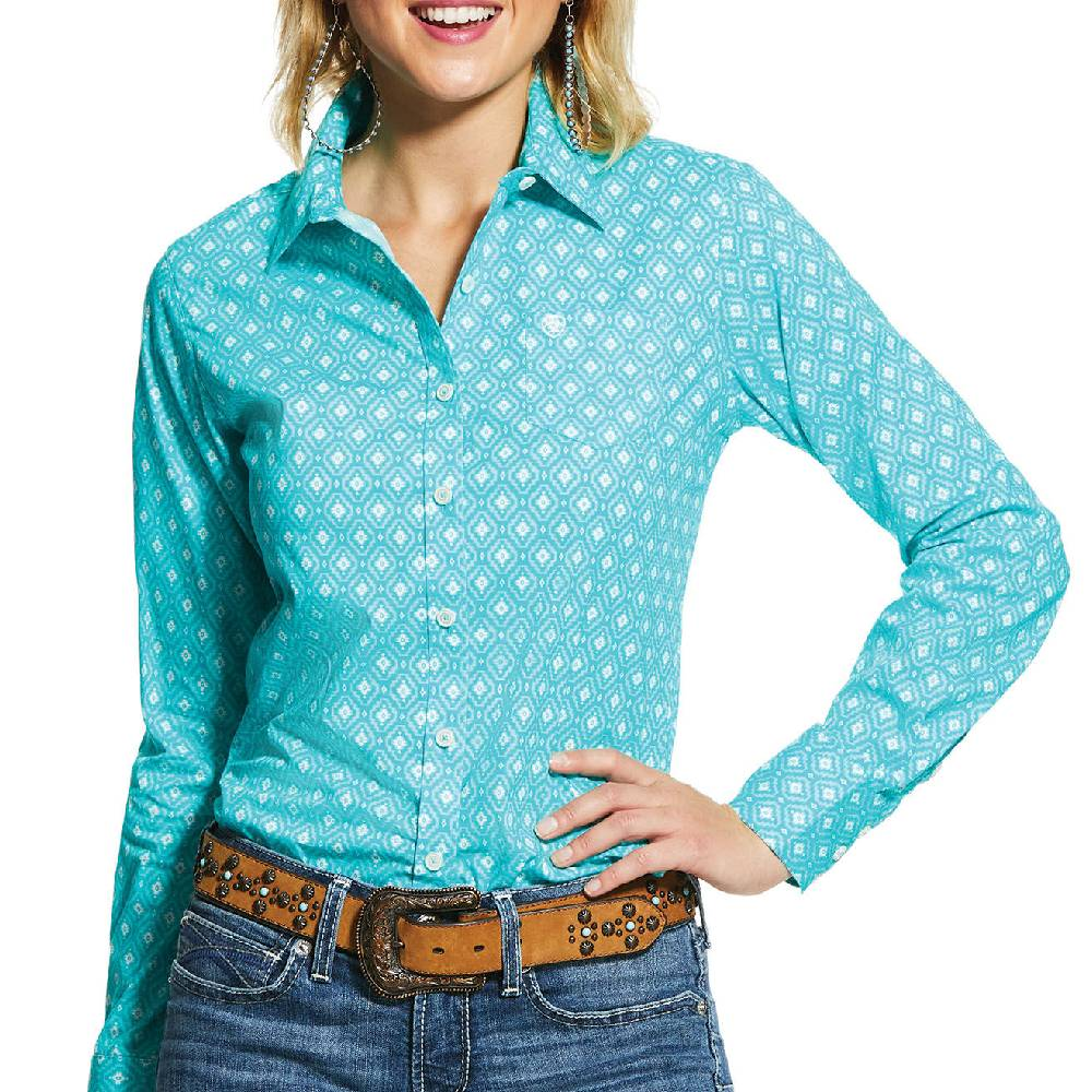 Ariat Kirby Button Up Shirt WOMEN - Clothing - Tops - Long Sleeved Ariat Clothing Teskeys