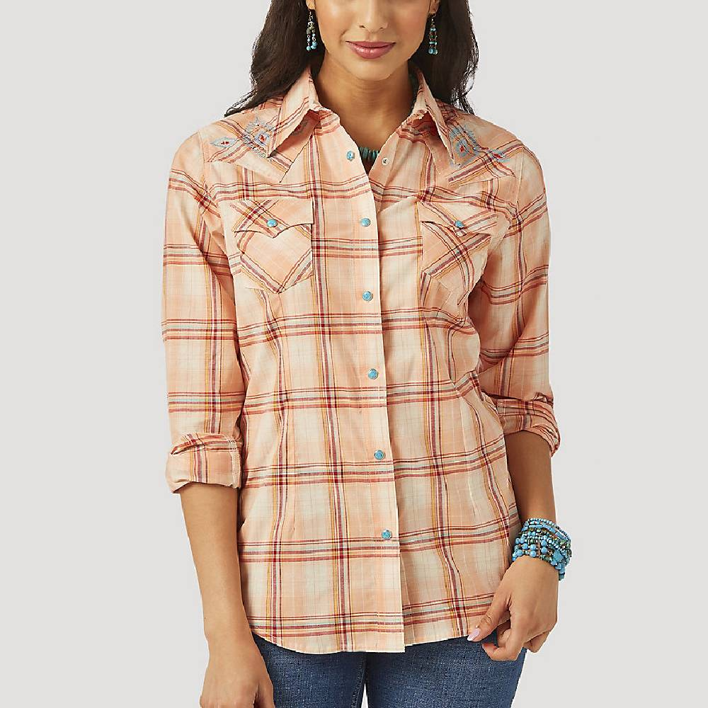 Wrangler Plaid Snap Shirt WOMEN - Clothing - Tops - Long Sleeved WRANGLER Teskeys