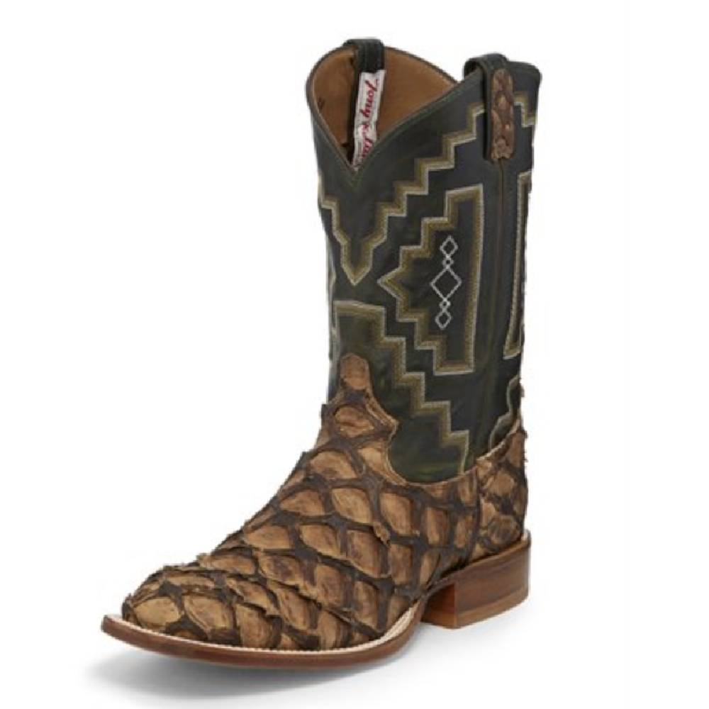 Tony Lama Men's Chocolate Gnarly Water Monster Boot MEN - Footwear - Exotic Western Boots TONY LAMA BOOTS Teskeys