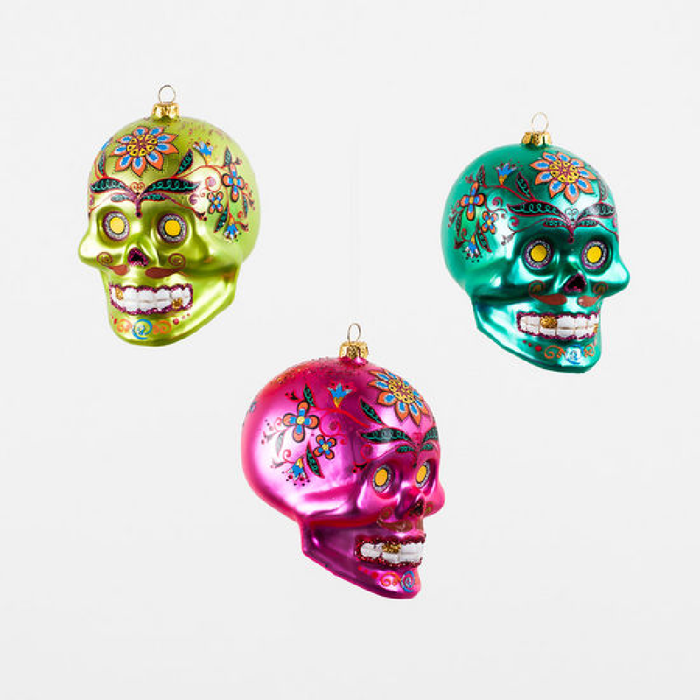 El Muerto Skull Ornament-Multiple Colors HOME & GIFTS - Home Decor - Seasonal Decor ONE HUNDRED 80 DEGREES Teskeys