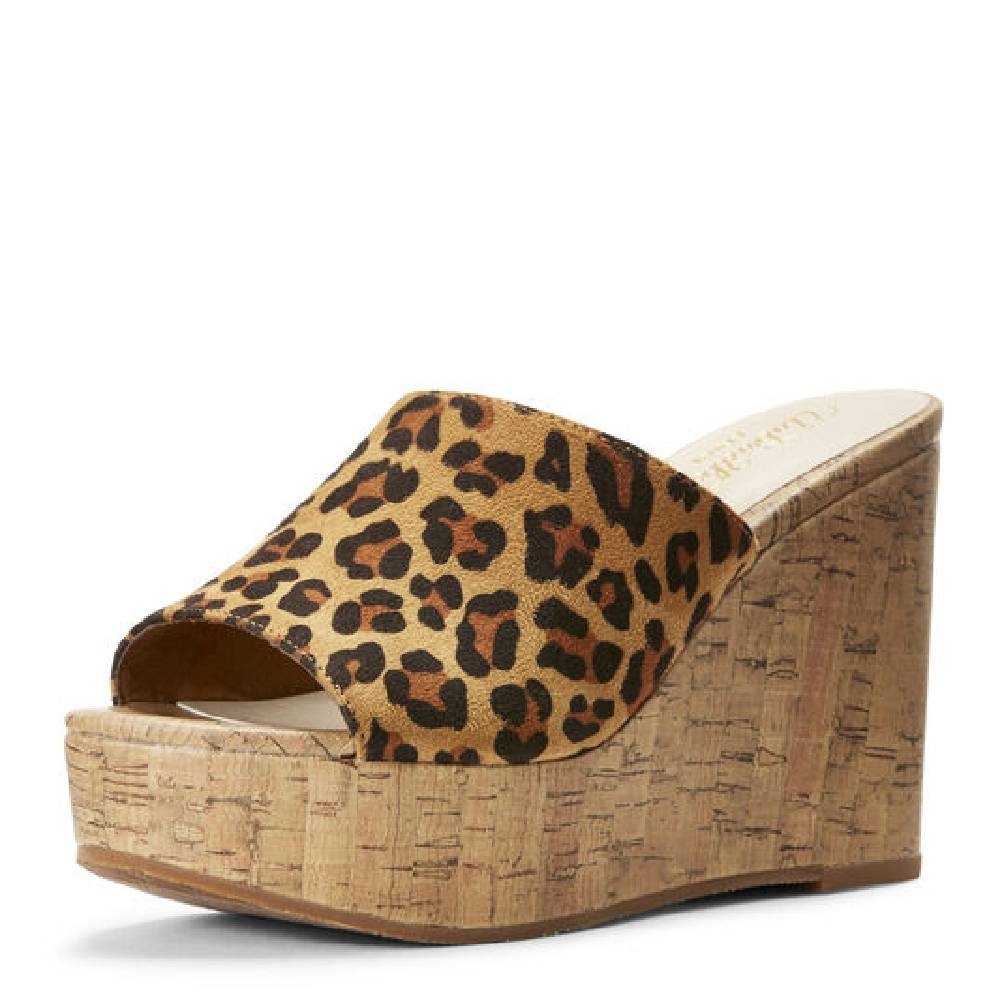 Ariat Unbridled Layla Cork Wedge - Leopard or Cactus WOMEN - Footwear - Heels & Wedges Ariat Footwear Teskeys