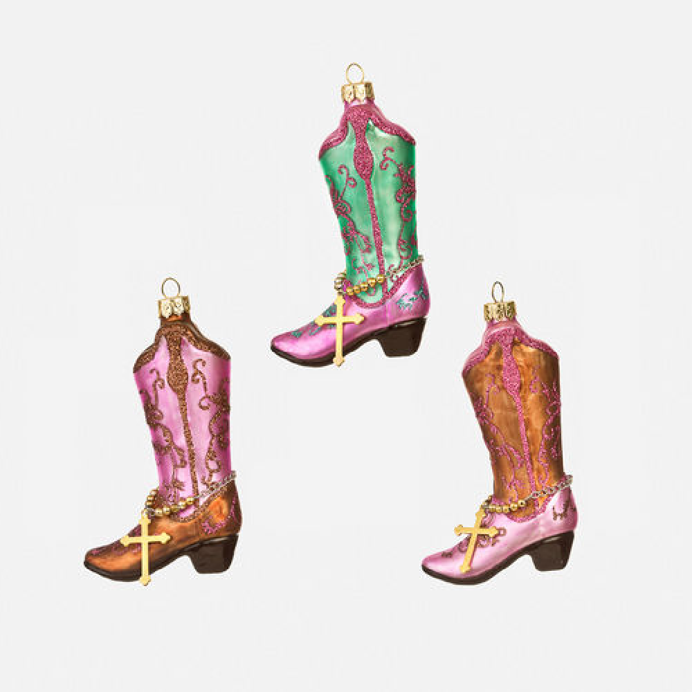 Lady Cowboy Boot Ornament-Multiple Colors HOME & GIFTS - Home Decor - Seasonal Decor ONE HUNDRED 80 DEGREES Teskeys