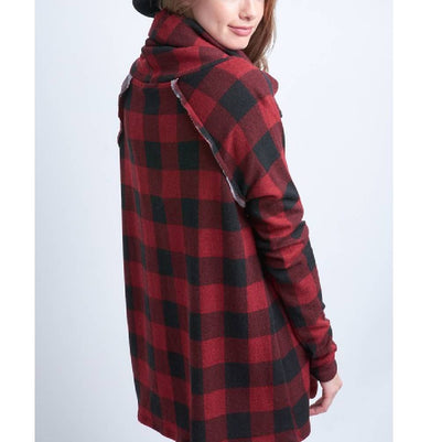 Checkered Cowl-Neck Top WOMEN - Clothing - Tops - Long Sleeved 12PM BY MON AMI Teskeys