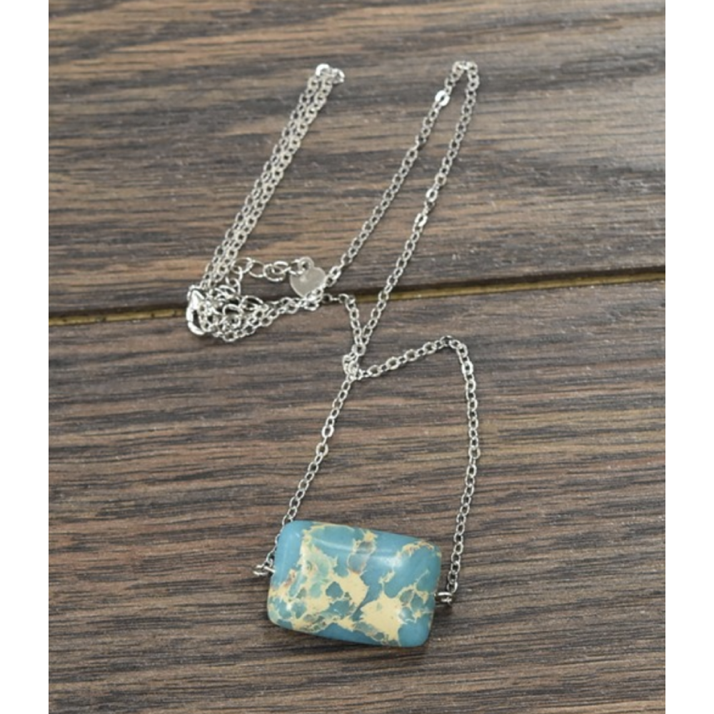 Turquoise Stone Necklace WOMEN - Accessories - Jewelry - Necklaces ISAC TRADING Teskeys