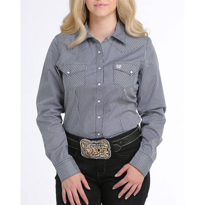 Cinch Stripe Print Snap Shirt WOMEN - Clothing - Tops - Long Sleeved CINCH Teskeys