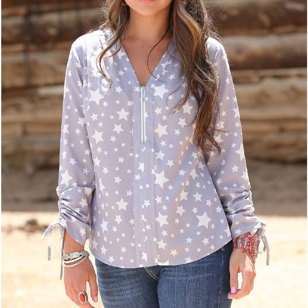 Cinch Star Print Top WOMEN - Clothing - Tops - Long Sleeved CINCH Teskeys