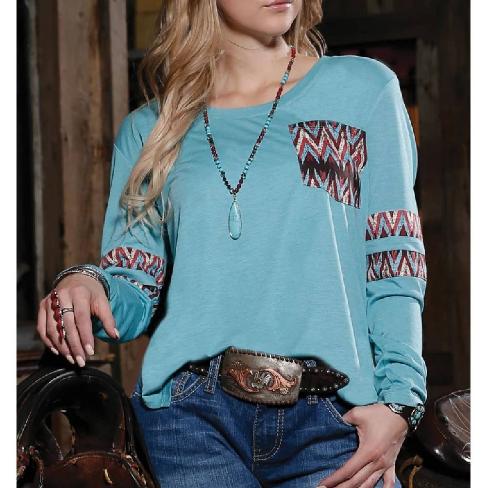 Cinch Turquoise Tee WOMEN - Clothing - Tops - Long Sleeved CINCH Teskeys