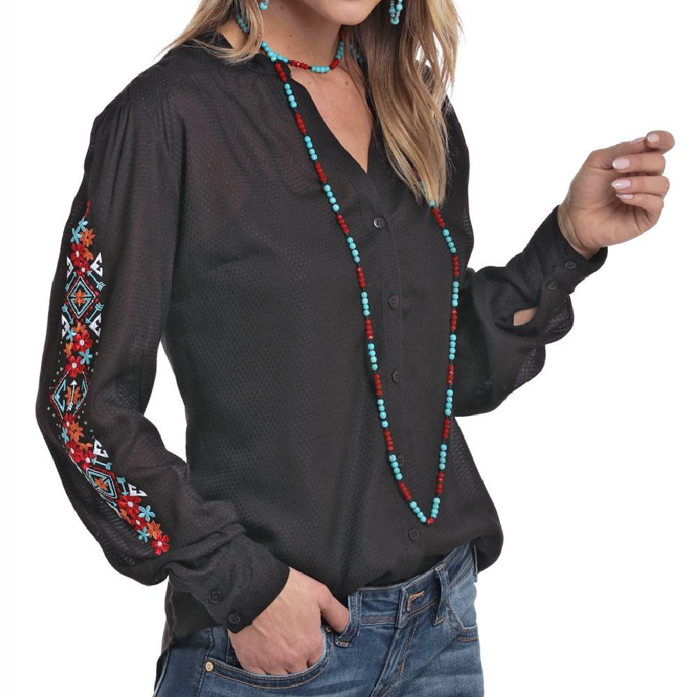 Panhandle Button Up Blouse