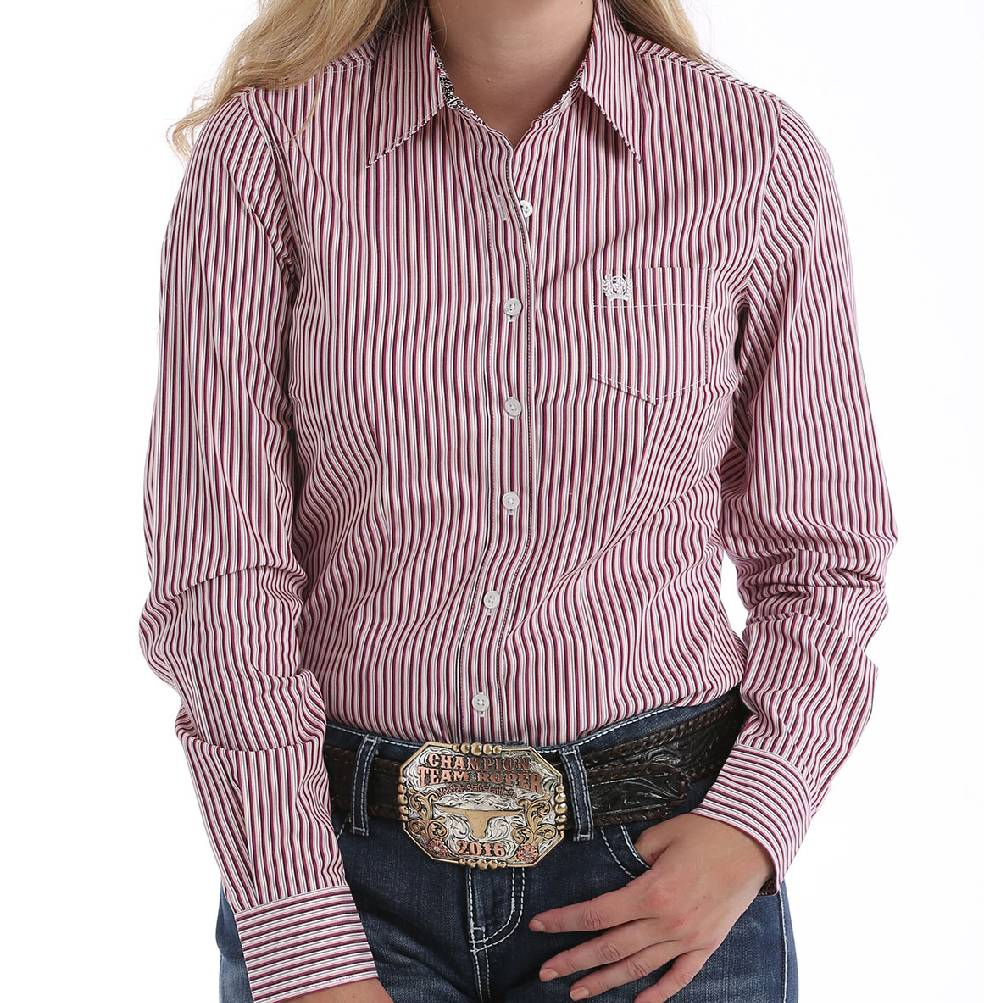 Cinch Stripe Button Up Shirt WOMEN - Clothing - Tops - Long Sleeved CINCH Teskeys