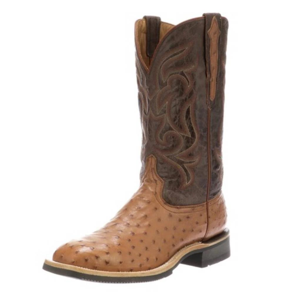 Lucchese Rowdy Ostrich Boot MEN - Footwear - Exotic Western Boots LUCCHESE BOOT CO. Teskeys
