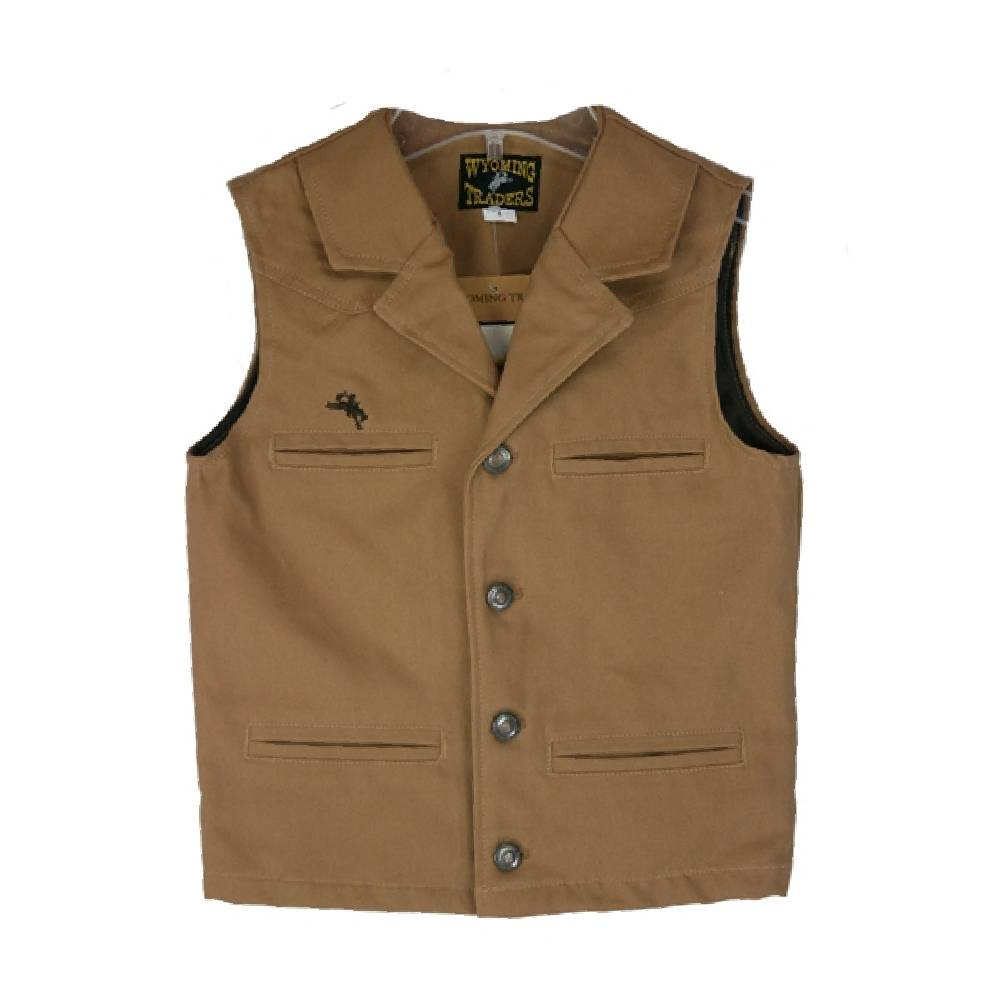 Wyoming Trader Youth Bronco Canvas Vest