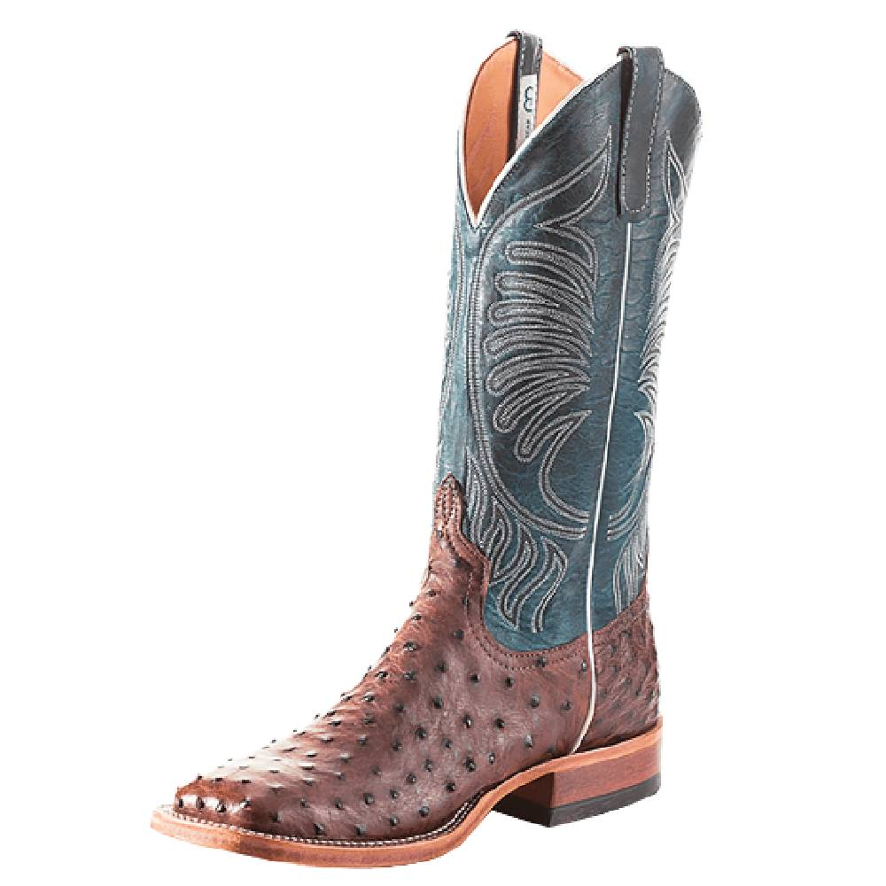 Anderson Bean Kango Tabac FQ Ostrich Boot MEN - Footwear - Exotic Western Boots ANDERSON BEAN BOOT CO. Teskeys
