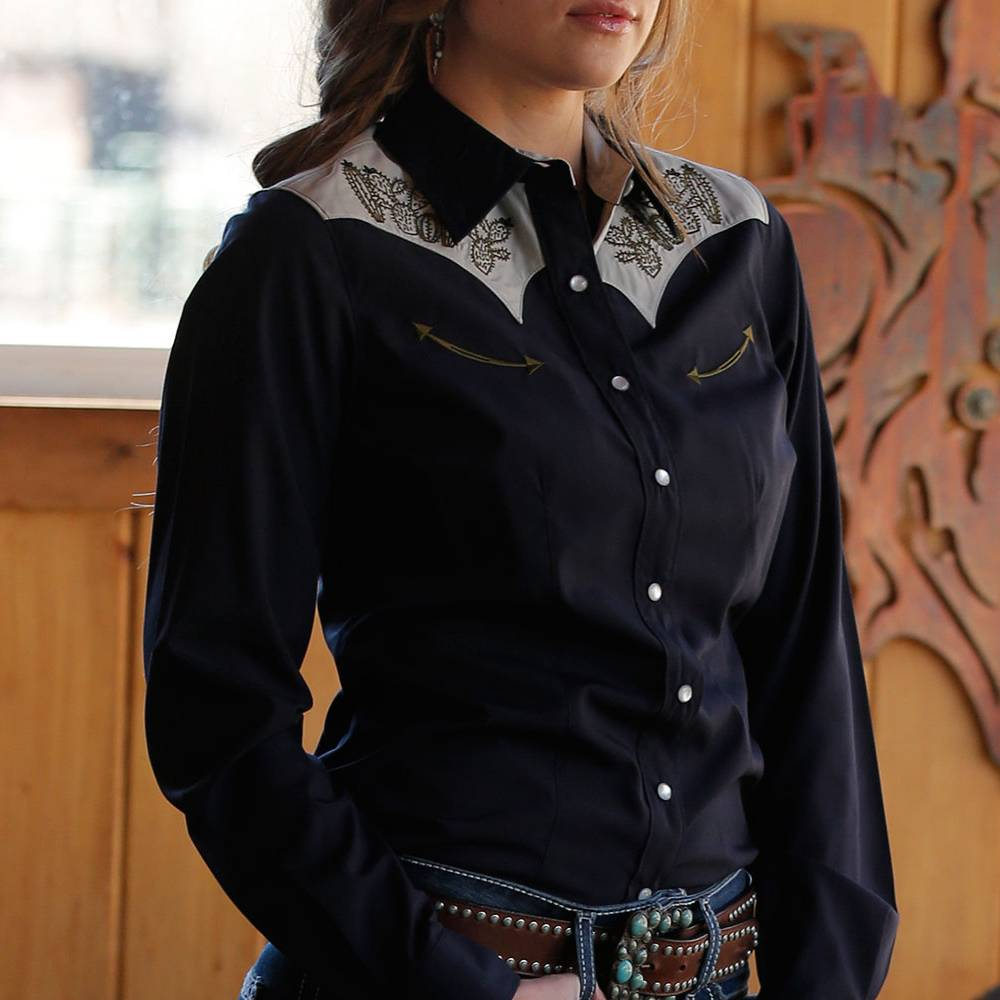 Cinch Cactus Embroidery Snap Up Shirt WOMEN - Clothing - Tops - Long Sleeved CINCH Teskeys