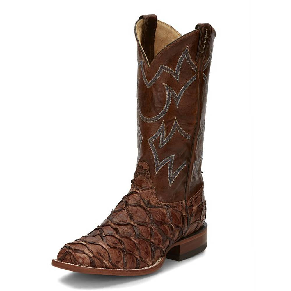 Justin Marina Pirarucu Fish Boot MEN - Footwear - Exotic Western Boots JUSTIN BOOT CO. Teskeys