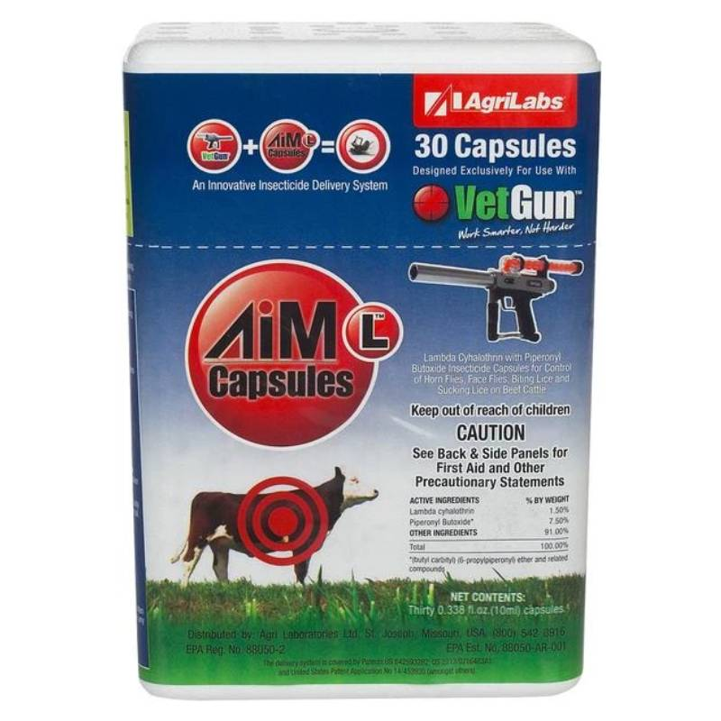 AgriLabs AiM-L VetCaps Farm & Ranch - Animal Care - Livestock - Fly & Insect Control AgriLabs Teskeys