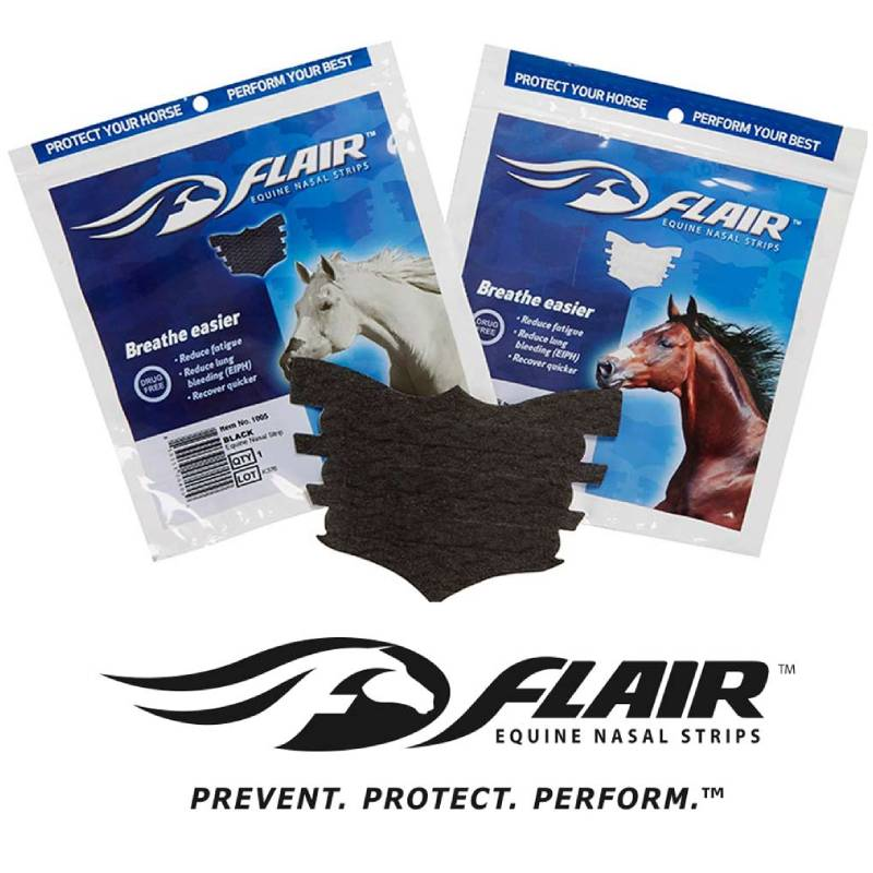 Flair Equine Nasal Strips FARM & RANCH - Animal Care - Equine - Medical Teskeys Teskeys