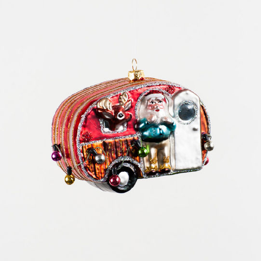 Trailer Trash Santa Ornament HOME & GIFTS - Home Decor - Seasonal Decor ONE HUNDRED 80 DEGREES Teskeys