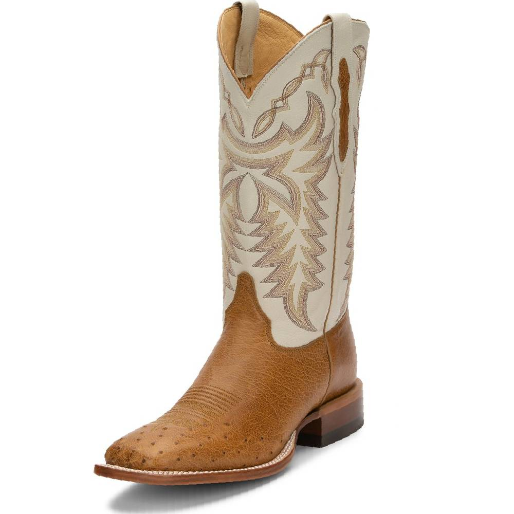 Justin Pascoe Antique Smooth Ostrich Boot MEN - Footwear - Exotic Western Boots JUSTIN BOOT CO. Teskeys