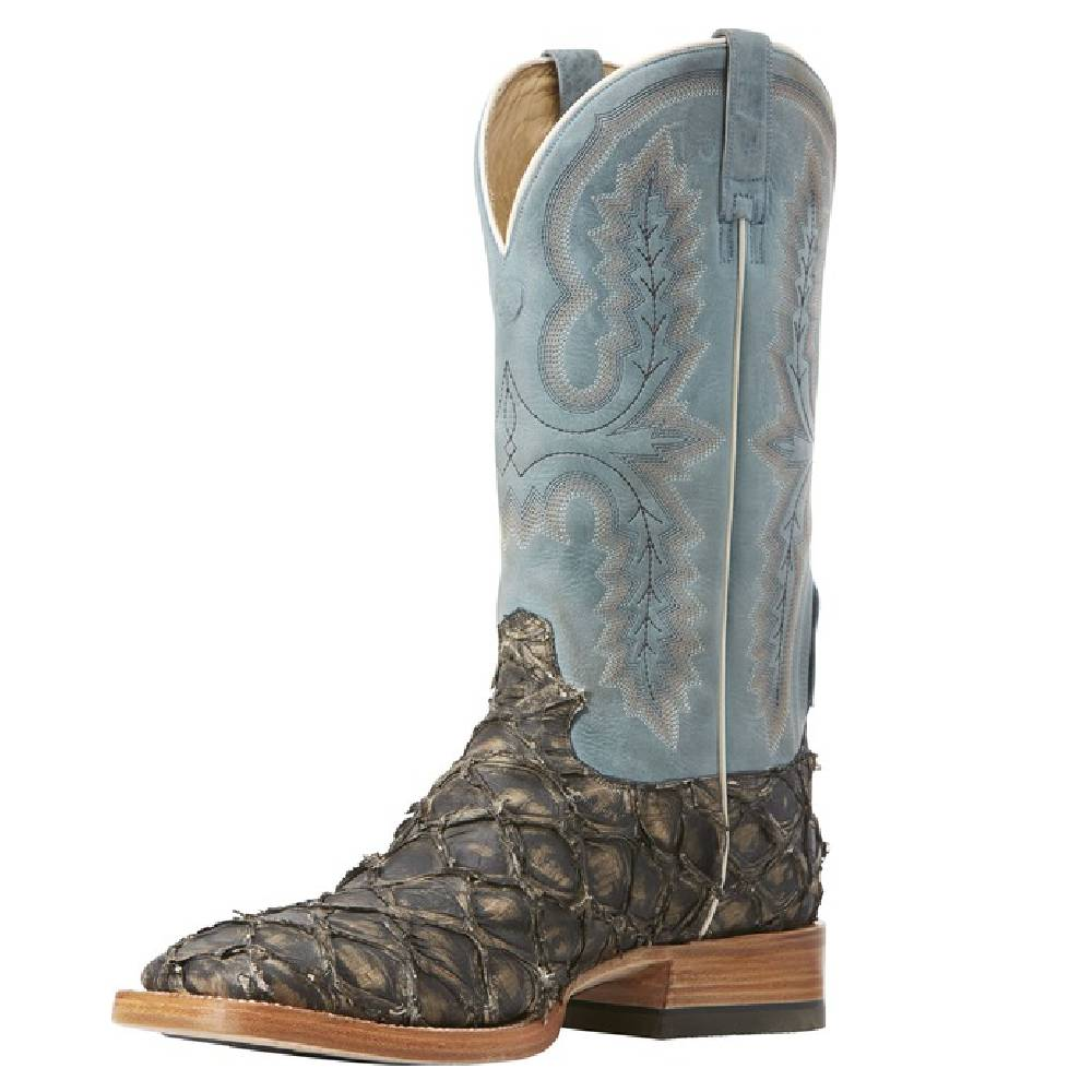 Ariat Big Bass Deep Water Slate/Matte Blue Top MEN - Footwear - Exotic Western Boots Ariat Footwear Teskeys