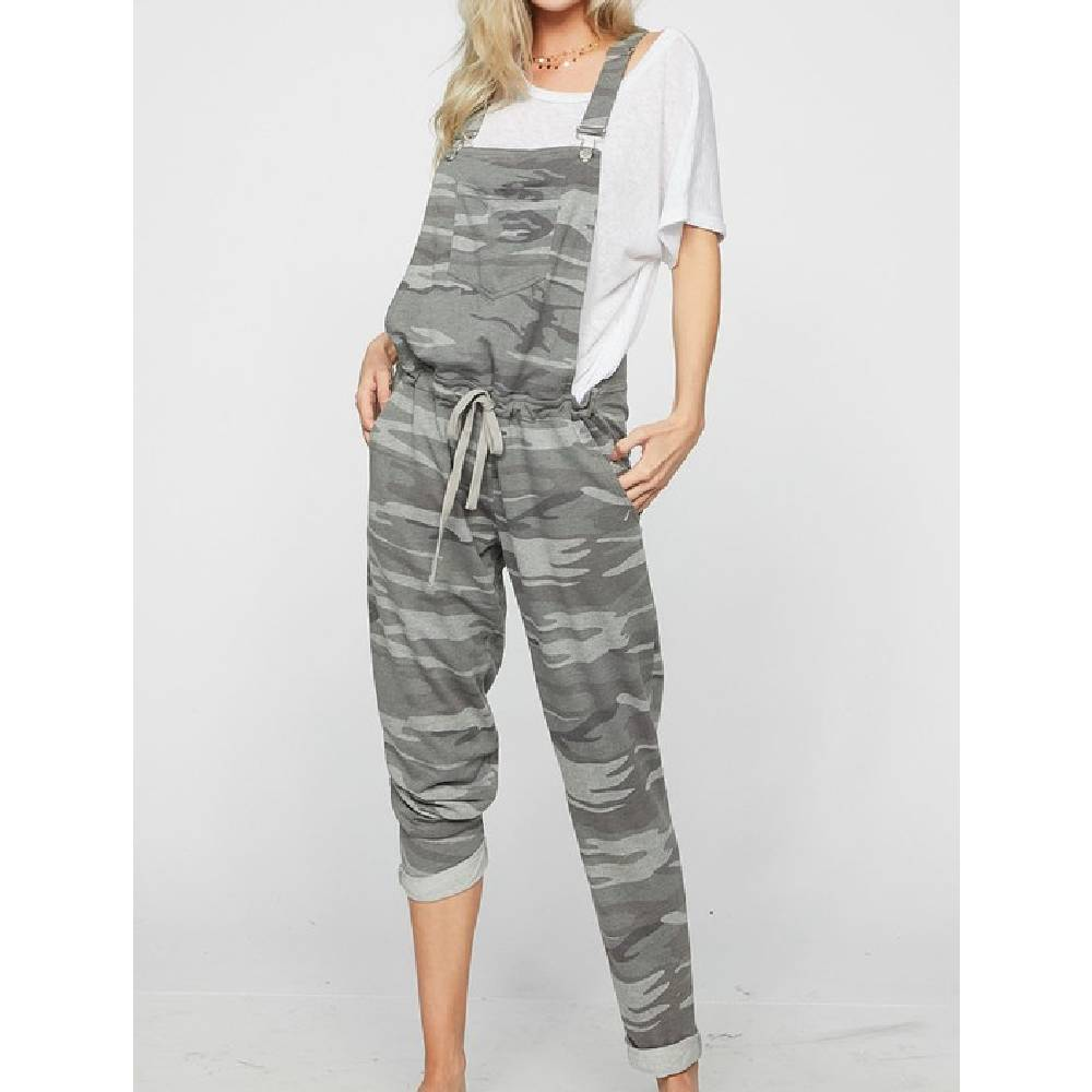 Bibi Camo Print Overall WOMEN - Clothing - Jumpsuits & Rompers BIBI CLOTHING Teskeys