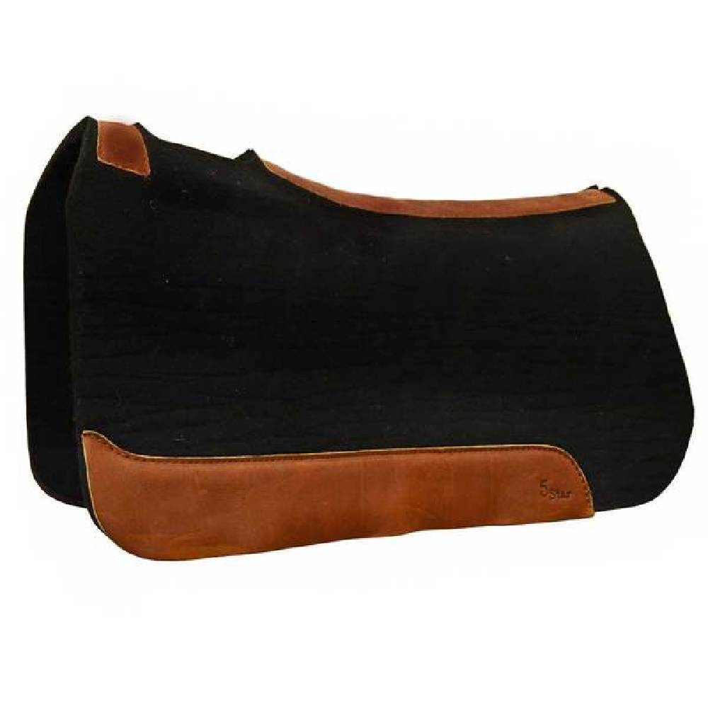 "5 Star 1"" Black Wool pad Tack - Saddle Pads 5 Star Teskeys"