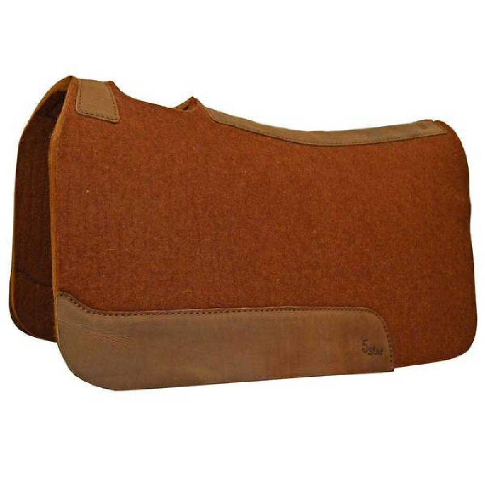 "5 Star 7/8"" Cinnamon Wool Pad Tack - Saddle Pads 5 Star Teskeys"