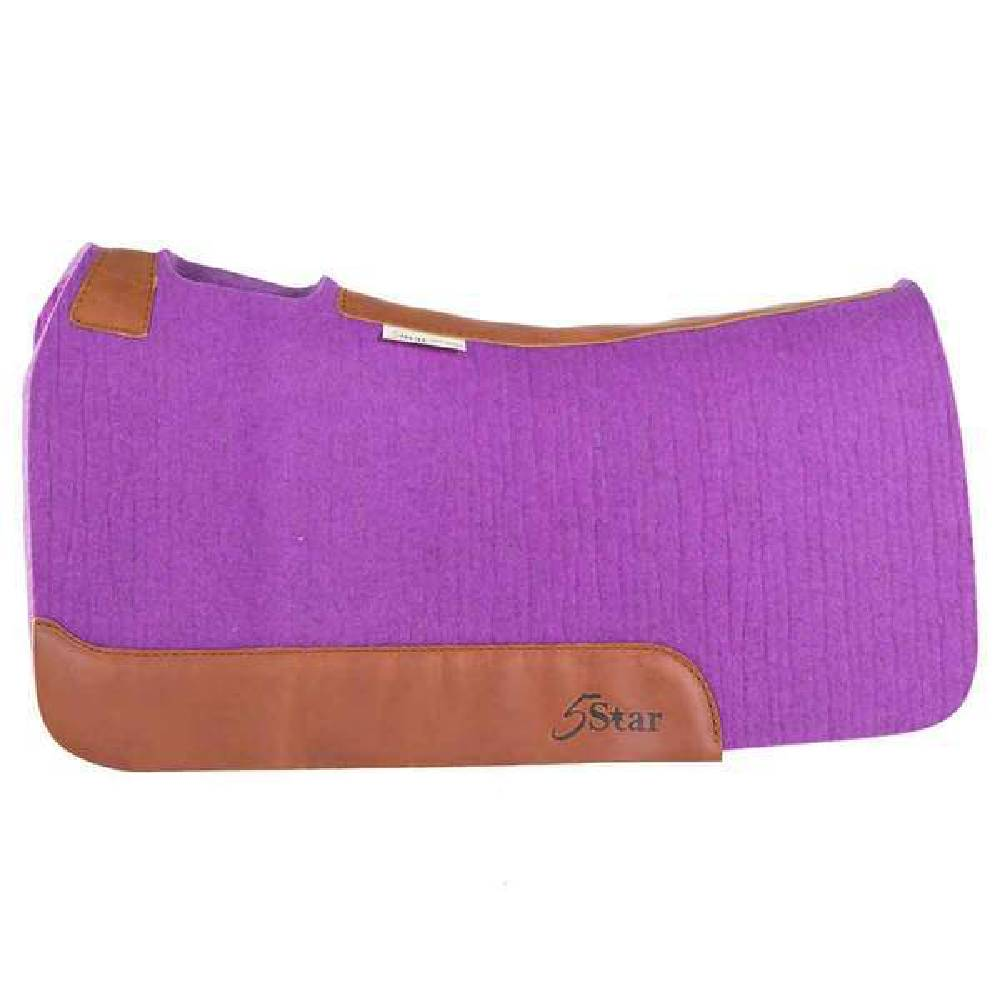5 Star Purple Barrel Racer Pad Tack - Saddle Pads 5 Star Teskeys