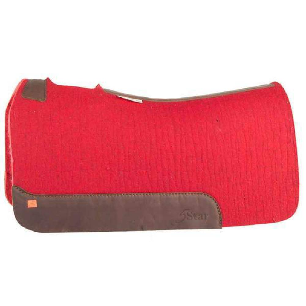 5 Star Red Barrel Racer Pad Tack - Saddle Pads 5 Star Teskeys