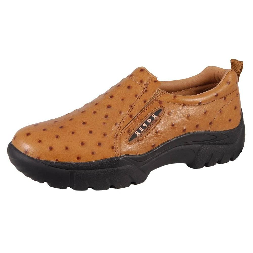 Roper Ostrich Print Leather Slip On