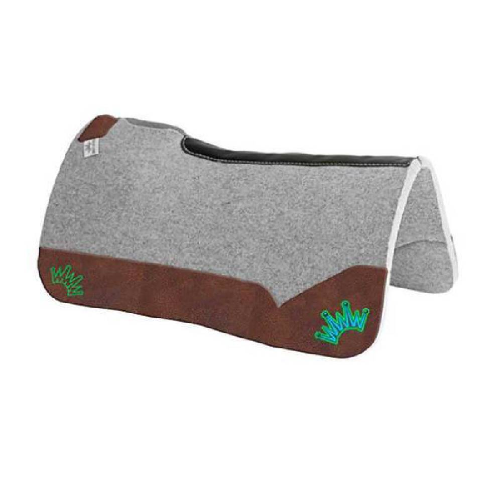 Best Ever Pad Kush Collection- Oak Nut Leather Tack - Saddle Pads Best Ever Teskeys