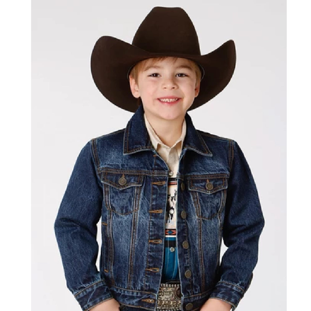 Roper Boys Denim Unlined Jacket KIDS - Boys - Clothing - Outerwear - Jackets ROPER APPAREL & FOOTWEAR Teskeys