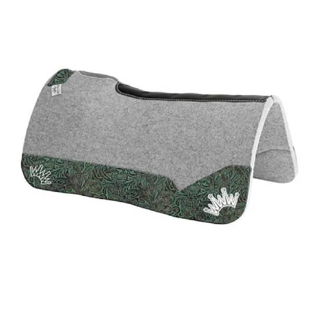 Best Ever Pads Kush Collection- Aquamarine Floral Tack - Saddle Pads Best Ever Teskeys