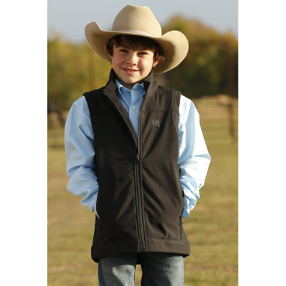 Boys Bonded Black Vest KIDS - Boys - Clothing - Outerwear - Vests CINCH Teskeys