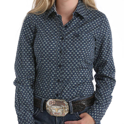 Cinch Geo Print Button Down Shirt WOMEN - Clothing - Tops - Long Sleeved CINCH Teskeys
