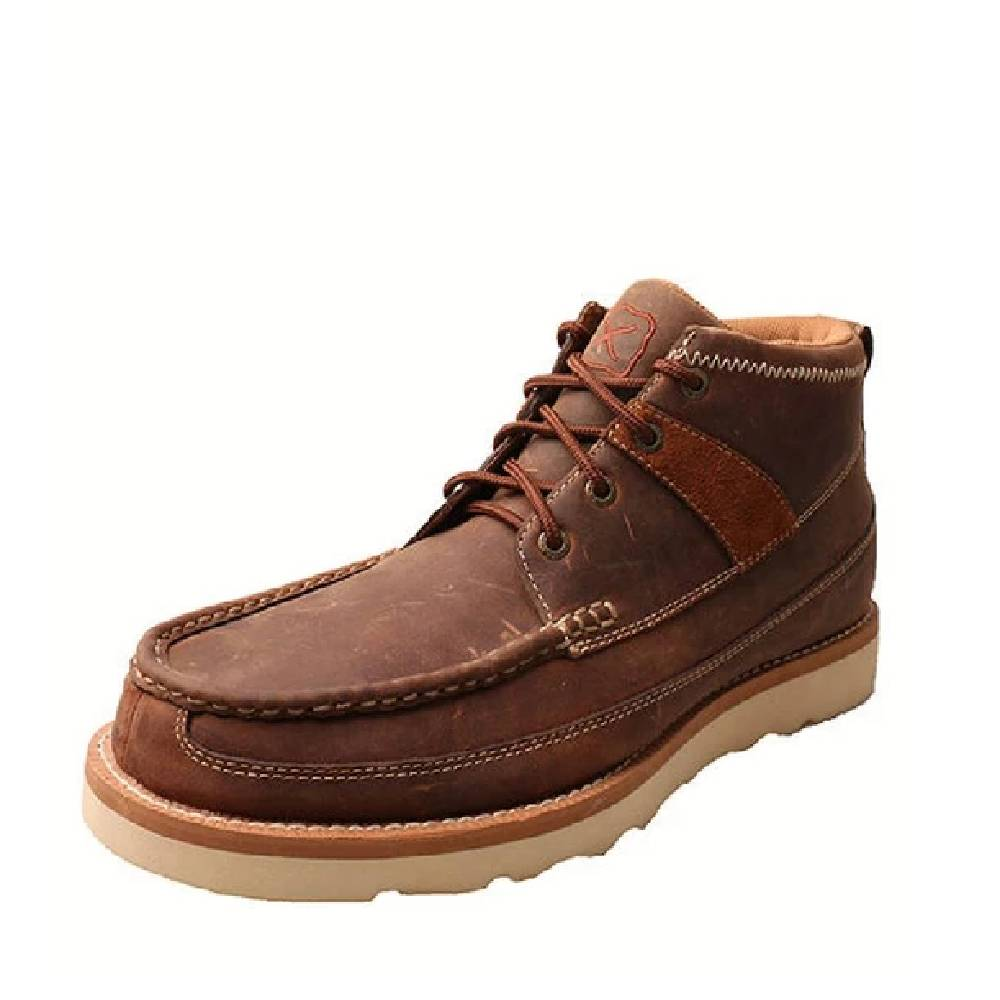 Twisted X Men's Oiled Saddle Lace Up Driving Moc